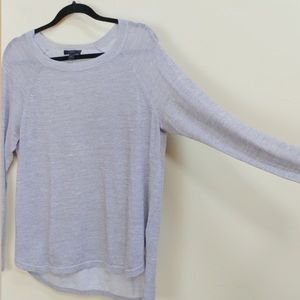 J Crew grey lightweight crewneck sweater